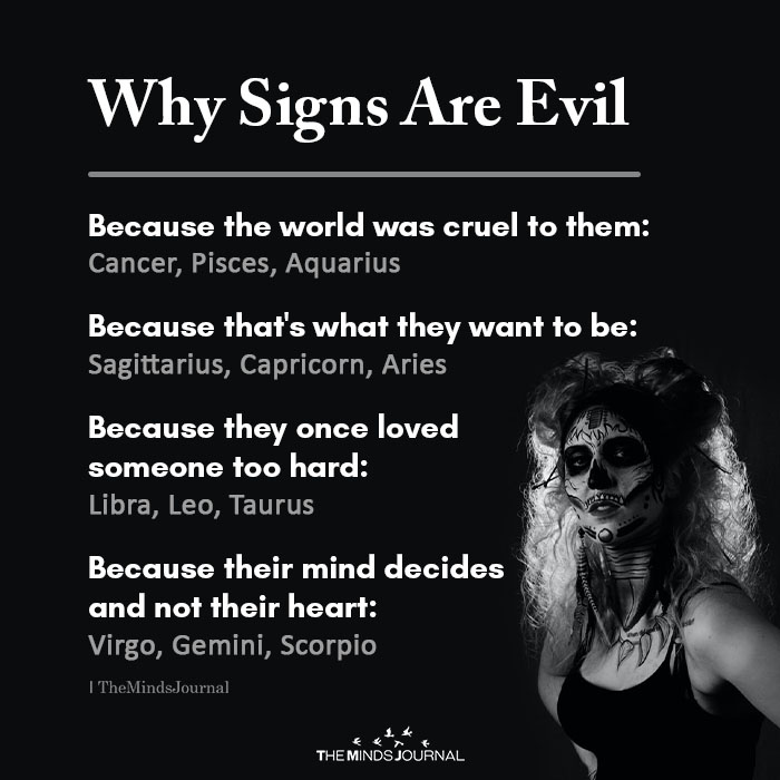 Why Signs are Evil