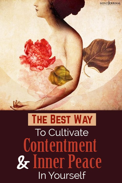 contentment and inner peace in yourself pin