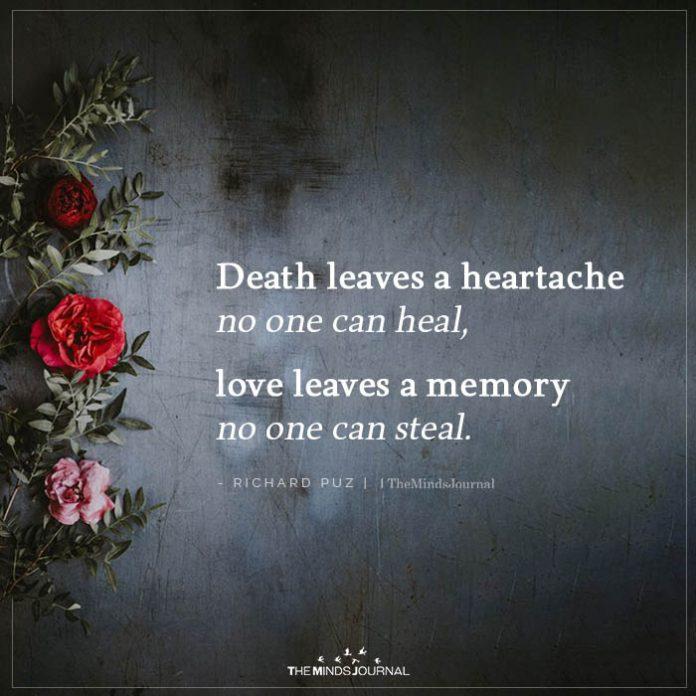 death leaves a heartache