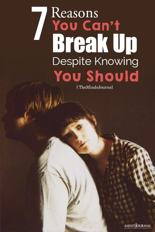 you cant break up with someone pin