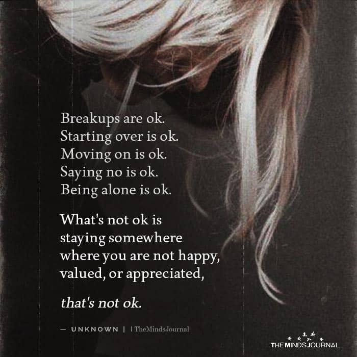 Breakups are okay