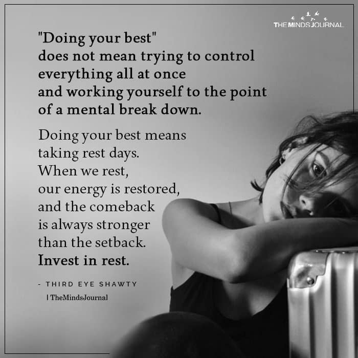 Doing Your Best Does Not Mean