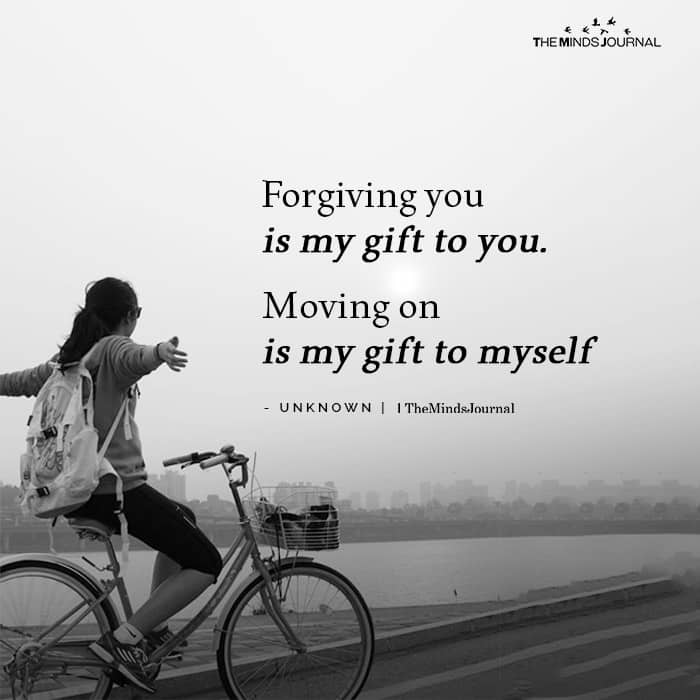 Forgiving You Is My Gift To You