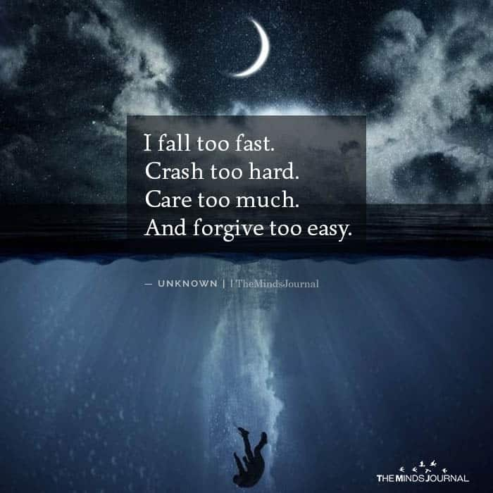 I Fall Too Fast Crash Too Hard