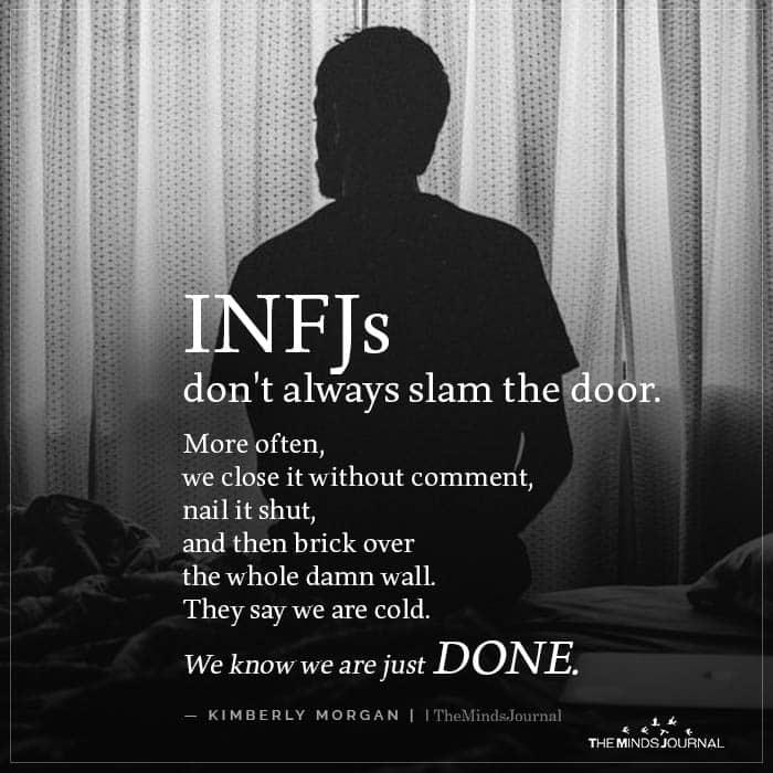 INFJ's Don't Always Slam the door