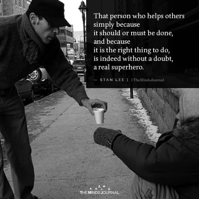 That person who helps others