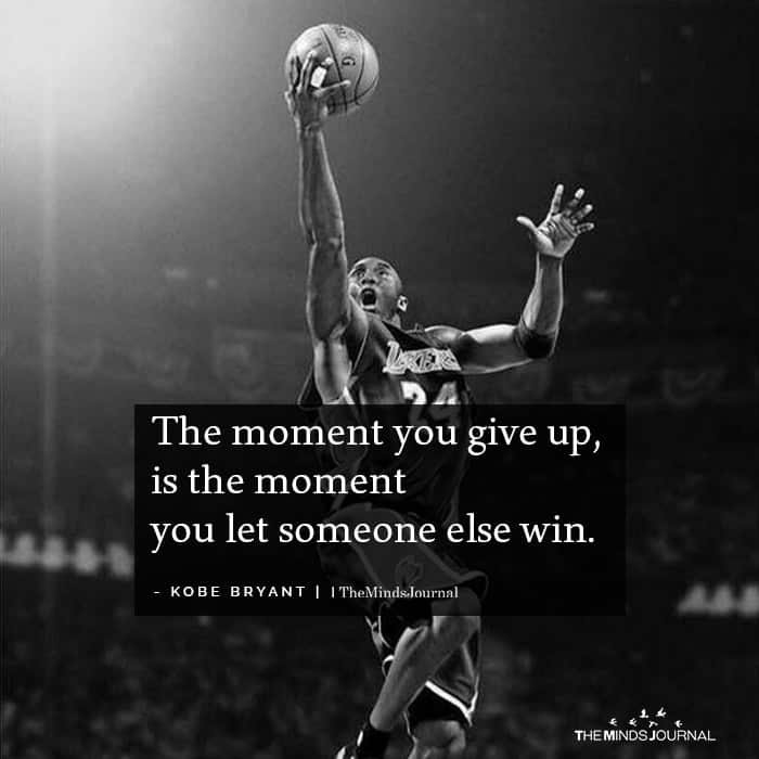 The moment you give up