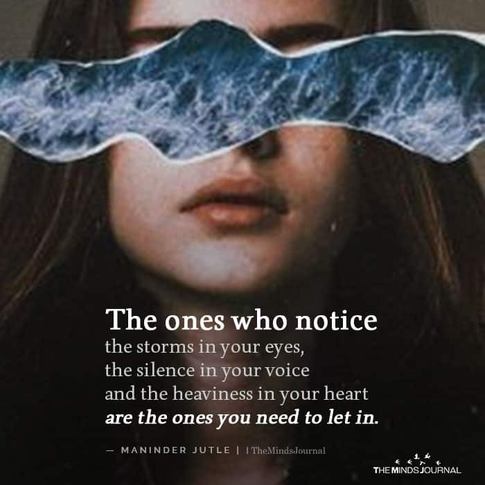 The Ones Who Notice The Storm