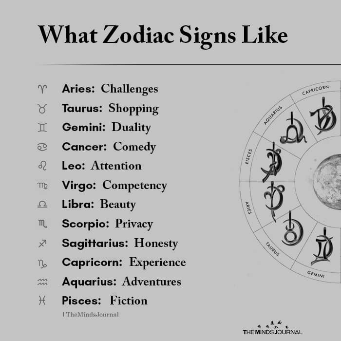 What Zodiac Signs Like