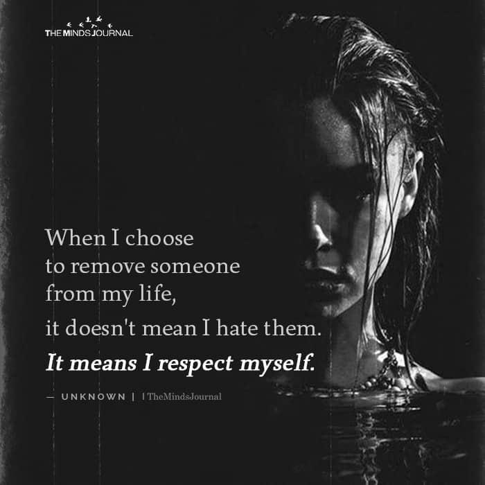 When I Choose To Remove Someone