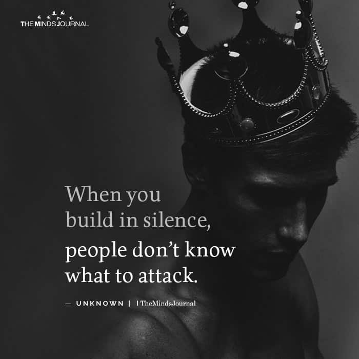 When you build in silence