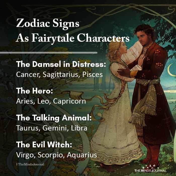 Zodiac Signs As Fairytale Characters