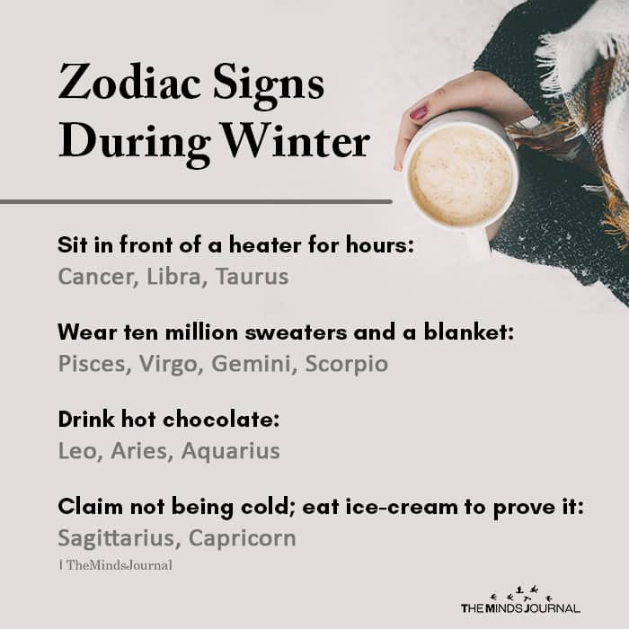 Zodiac Signs During Winter
