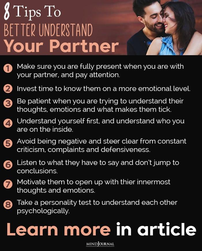 better understand your partner info