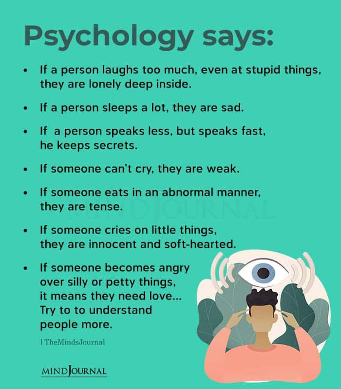 psychology says if a person laughs too much