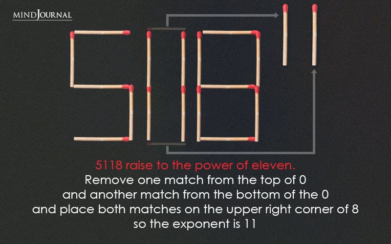 5118 raise to the power of eleven