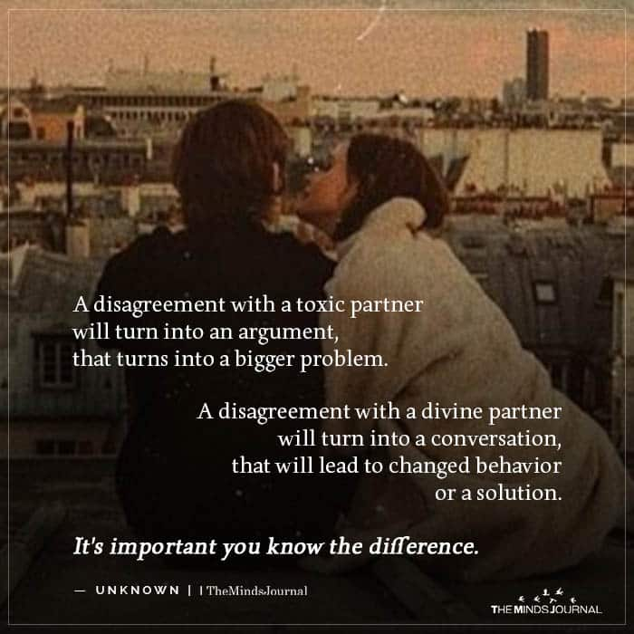 A disagreement with a toxic partner