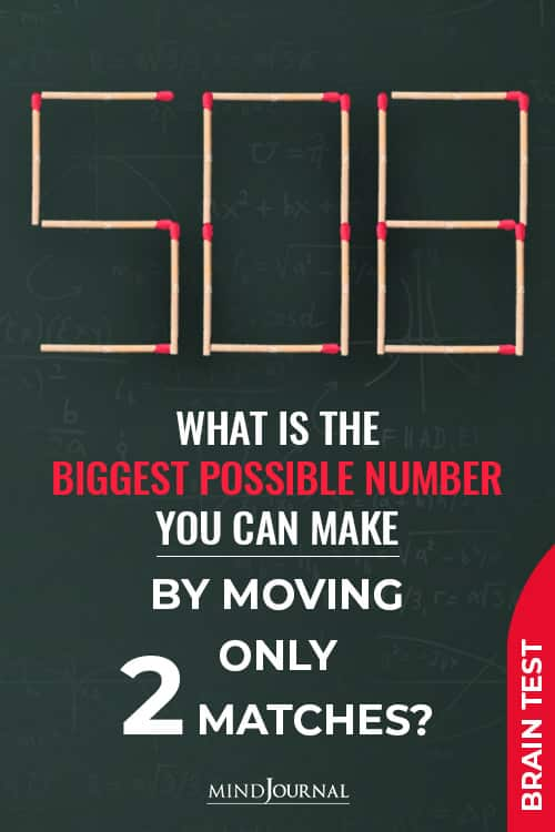 Biggest Possible Number Moving Only Matches pin