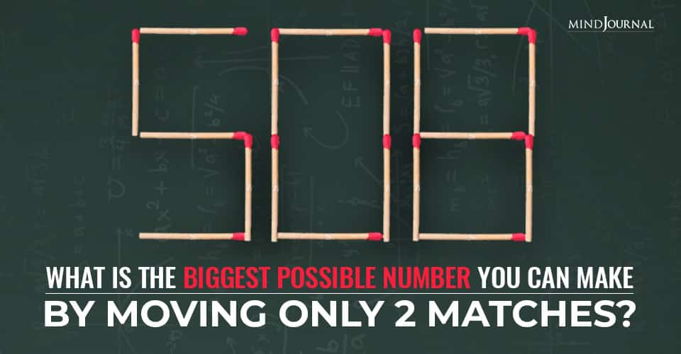 Biggest Possible Number Moving Only Matches