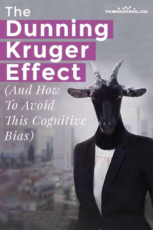 Dunning Kruger Effect Avoid Cognitive Bias Pin