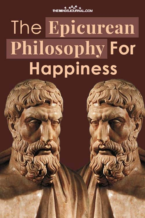 Epicurean Philosophy Happiness pin