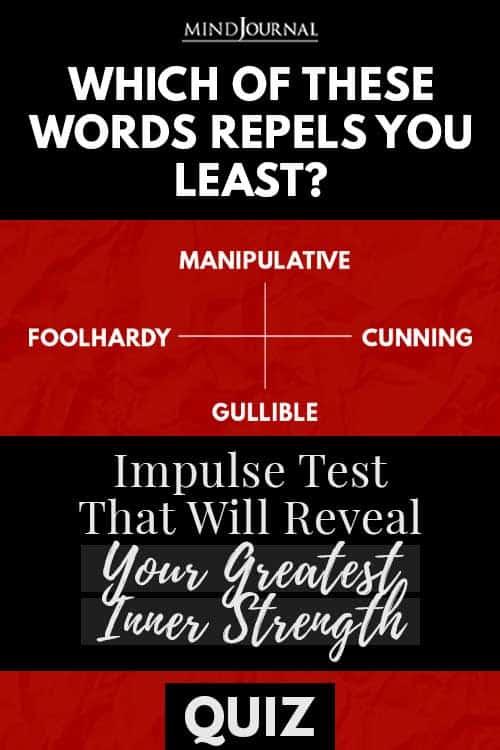Impulse Test Reveal Greatest Inner Strength Quiz Pin