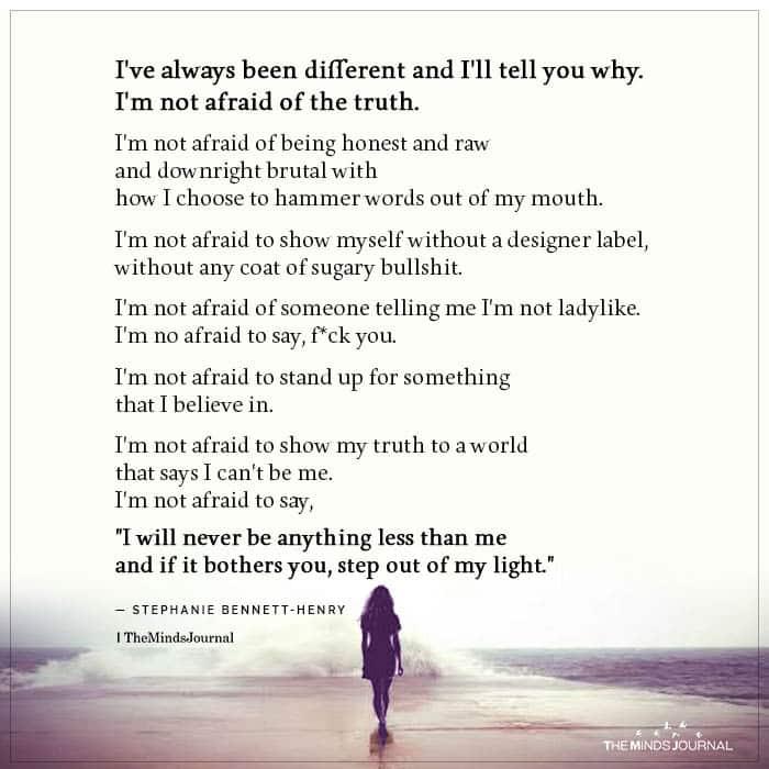 Ive always been different