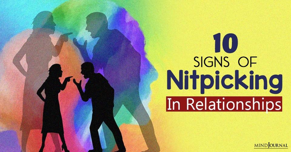 Nitpicking In Relationships