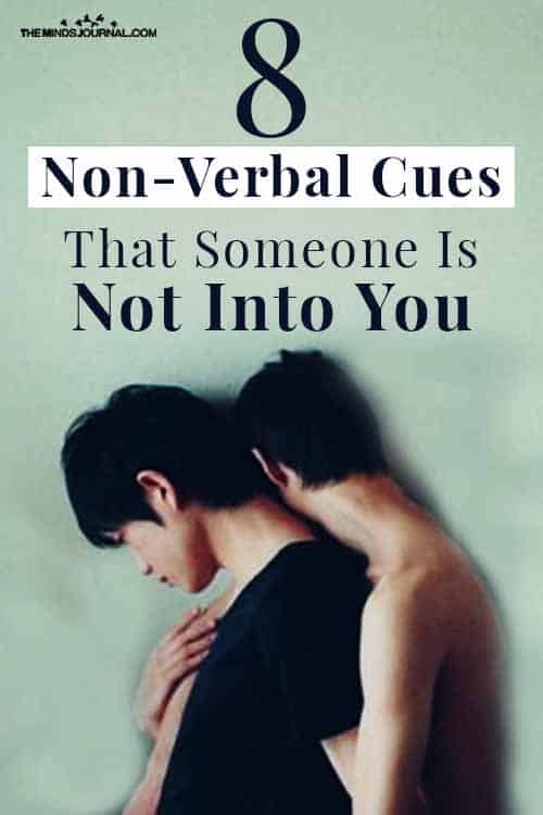 Nonverbal Cues Someone Is Not Into You Pin