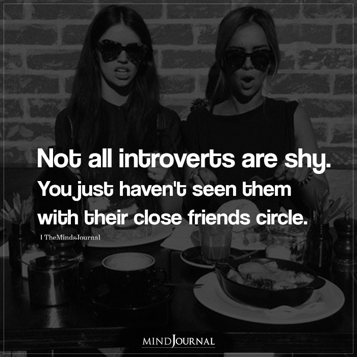 not all introverts are shy