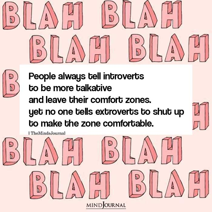 People always tell introverts to be more talkative