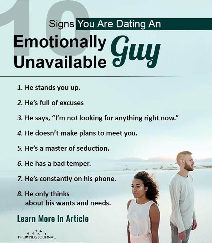 10 Signs You Are Dating An Emotionally Unavailable Guy