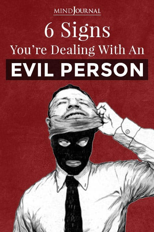 Dealing With  Evil Person Pin
