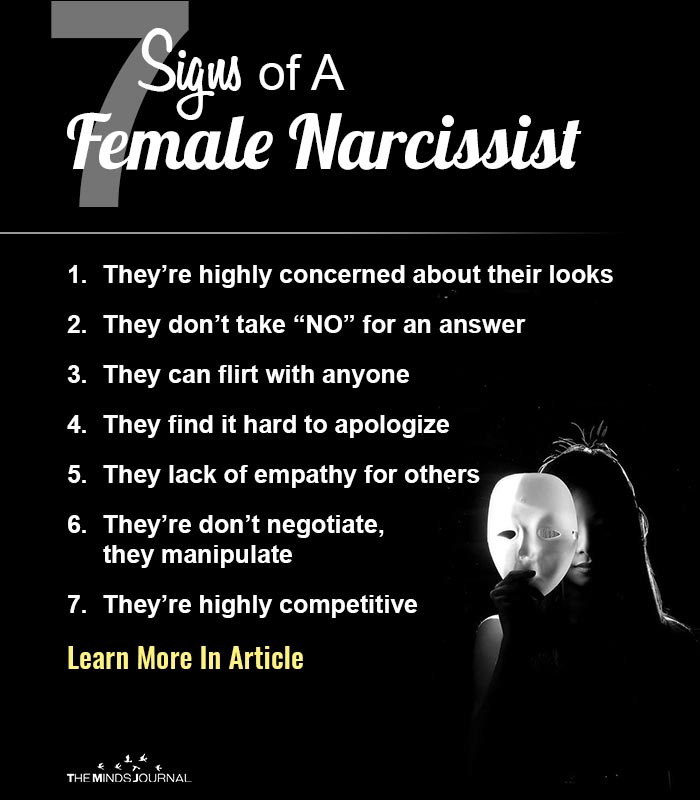 7 Signs of A Female Narcissist