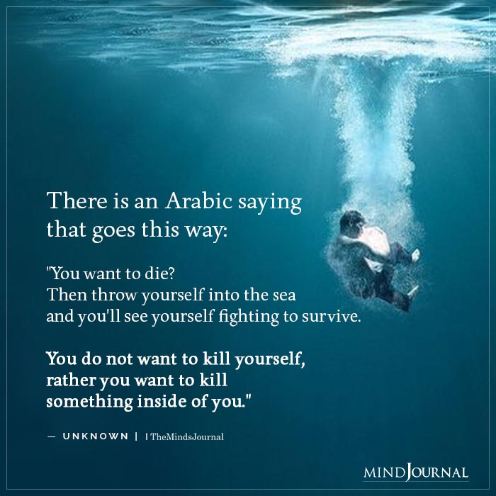 There is an Arabic saying that goes this way