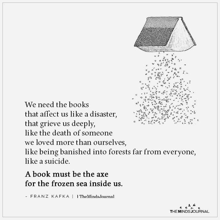 We Need Books That Affect Us