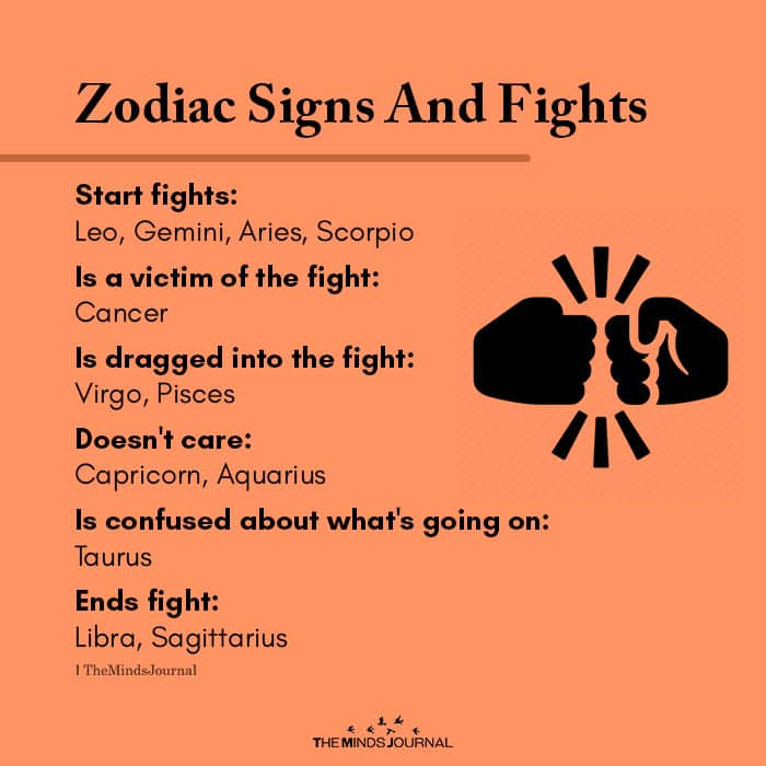 Zodiac Signs And Fights