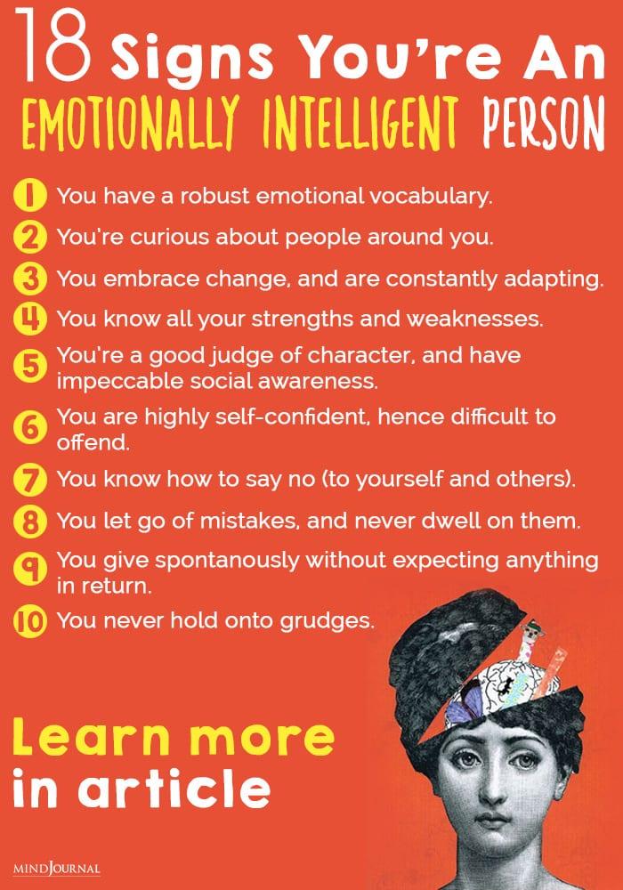 emotionally intelligent person info