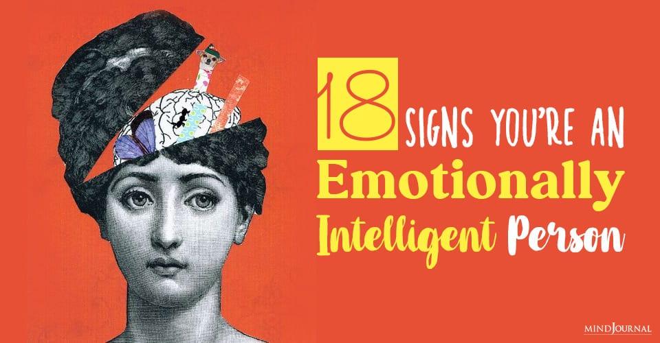 emotionally intelligent person