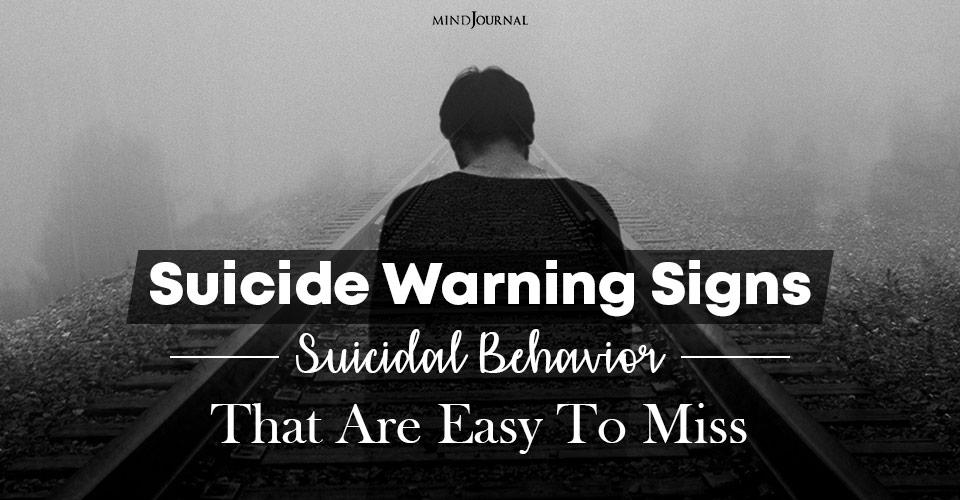 suicide warning signs suicidal behavior