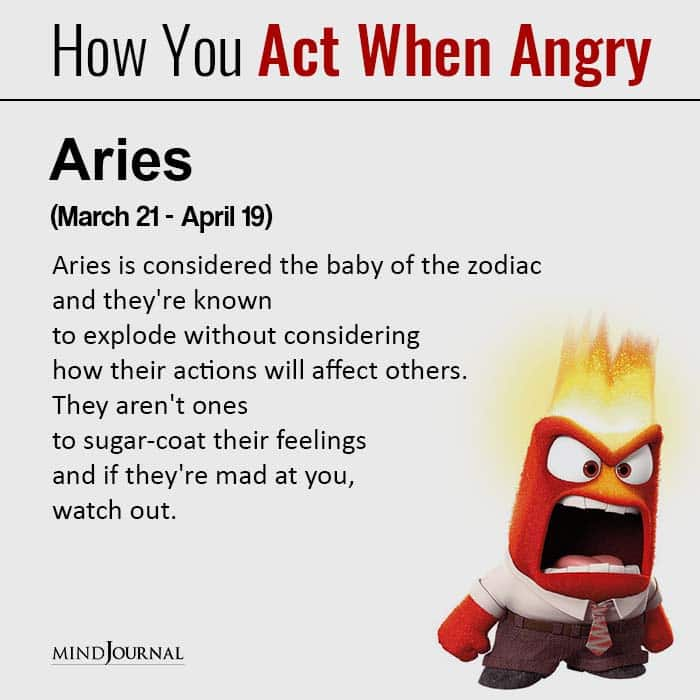 How Each Zodiac Sign Acts When They're Angry