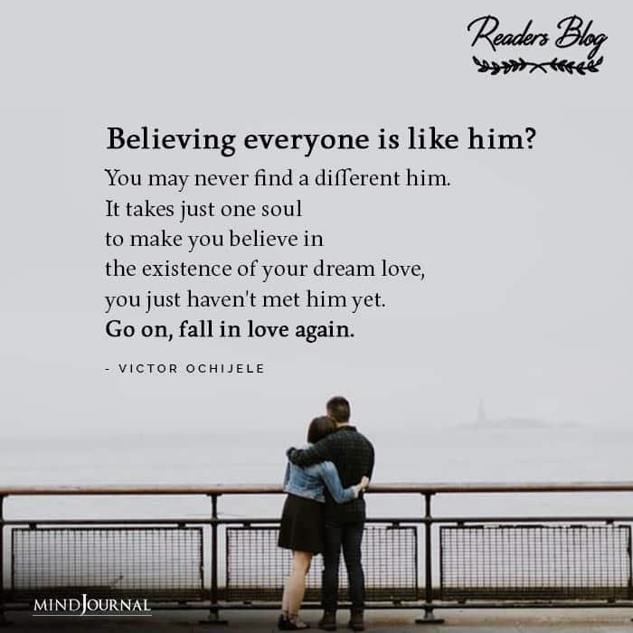 Believing everyone is like him