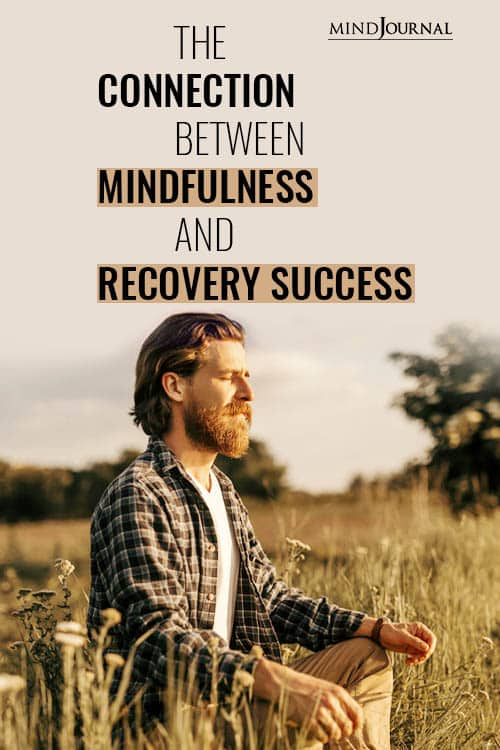 Connection Mindfulness Recovery Success pin