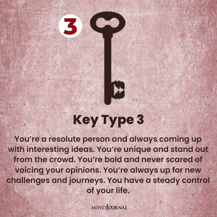Key Personality Test three