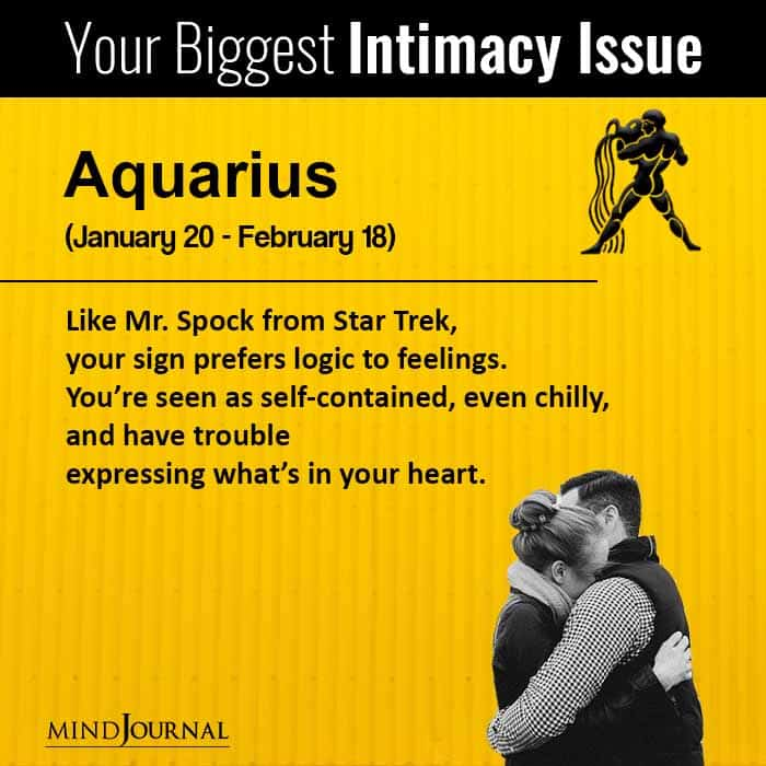 Your Biggest Intimacy Issue Based On Your Zodiac Sign