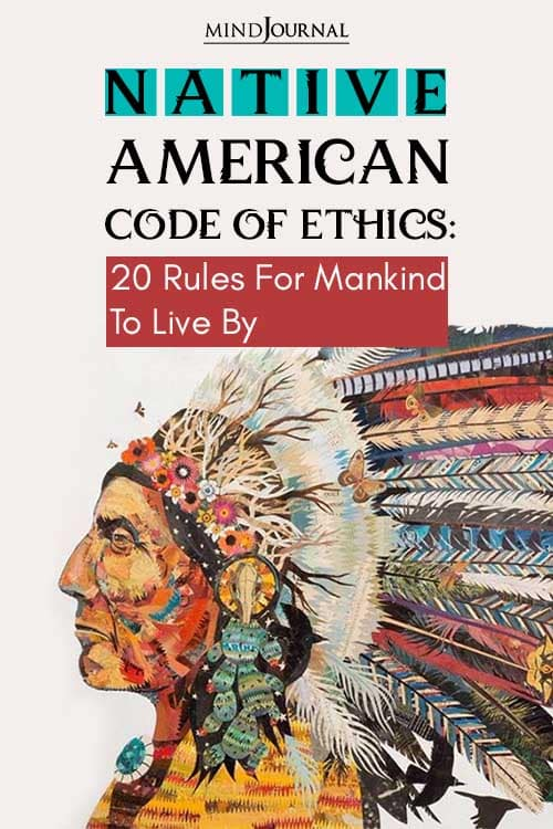Native American Code of Ethics 20 Rules For Mankind To Live By Pin