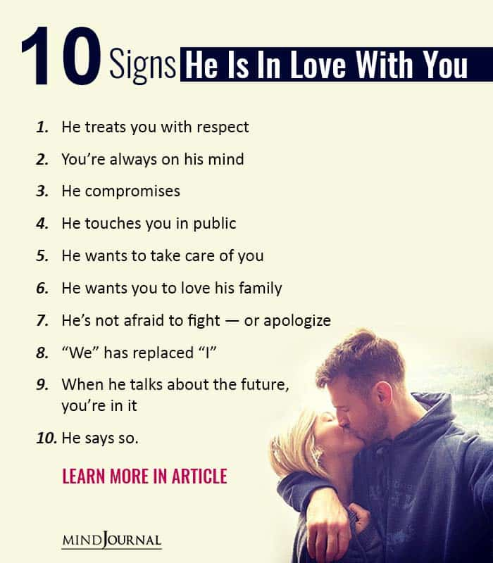 10 Signs He Is In Love With You
