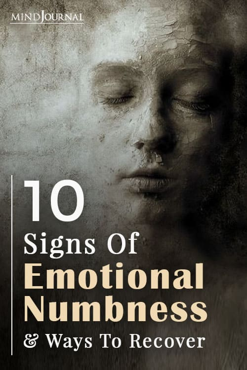 Signs Of Emotional Numbness Pin