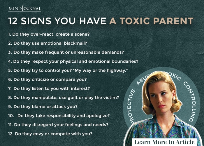 12 Signs You Have A Toxic Parent and How To Deal With It