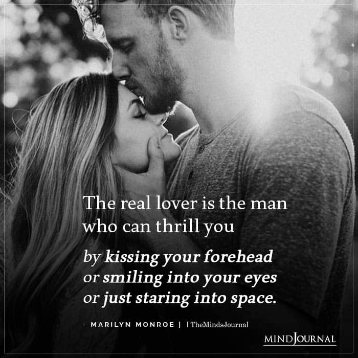 The real lover is the man